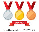 gold  silver and bronze medals. ... | Shutterstock .eps vector #429594199