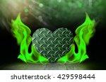 Heart Shape Steel With Blaze...