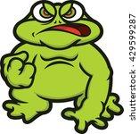 bullfrog cartoon | Shutterstock .eps vector #429599287