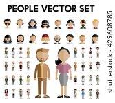 diversity community people flat ... | Shutterstock .eps vector #429608785
