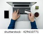 a man is going to pay for the...   Shutterstock . vector #429610771