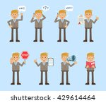 set of businessman characters... | Shutterstock .eps vector #429614464