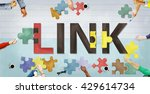 link connection linkage network ...   Shutterstock . vector #429614734
