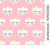 seamless pattern with smiling... | Shutterstock .eps vector #429621061
