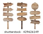 wooden sign board isolated on... | Shutterstock . vector #429626149
