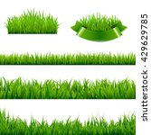 green grass borders collection  ... | Shutterstock .eps vector #429629785