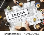 layout template website design... | Shutterstock . vector #429630961