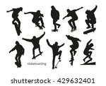 black silhouettes of... | Shutterstock .eps vector #429632401