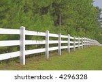 A Decorative White Split Rail...