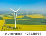 aerial view on the windmills on ... | Shutterstock . vector #429638989
