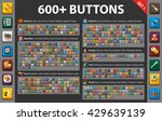 large set flat icons for web ... | Shutterstock .eps vector #429639139