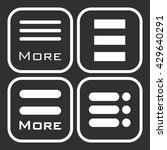 hamburger menu icons set. white ...