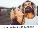 young beautiful loving couple ... | Shutterstock . vector #429660235