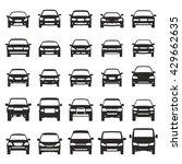 car icons flat big set vector... | Shutterstock .eps vector #429662635