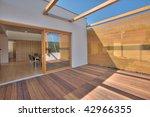 timber pool deck on modern home ... | Shutterstock . vector #42966355
