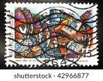 belgium   circa 1993  a stamp... | Shutterstock . vector #42966877