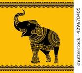 hand drawn ornate elephant.... | Shutterstock .eps vector #429670405