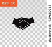 handshake icon | Shutterstock .eps vector #429680365