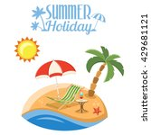 summer vacation on beach... | Shutterstock .eps vector #429681121