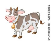 happy cartoon cow on white... | Shutterstock .eps vector #429685081