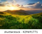 mountain valley during sunrise. ... | Shutterstock . vector #429691771