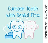 dental illustration for kids | Shutterstock .eps vector #429697909