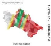 turkmenistan map in geometric... | Shutterstock .eps vector #429701641