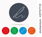 pen icon. writing tool sign.... | Shutterstock . vector #429707719