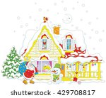 santa claus brought gifts to a... | Shutterstock .eps vector #429708817