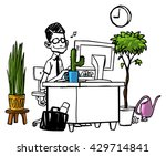 office worker sitting at his... | Shutterstock .eps vector #429714841
