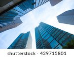 up view of modern office... | Shutterstock . vector #429715801