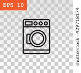 washing machine icon | Shutterstock .eps vector #429718174