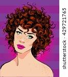 vector beautiful girl with... | Shutterstock .eps vector #429721765