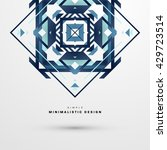 geometric vector background.... | Shutterstock .eps vector #429723514