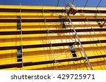 yellow protective tarpaulins... | Shutterstock . vector #429725971