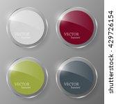 glass framework set. vector... | Shutterstock .eps vector #429726154