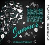 beach party on chalk board | Shutterstock .eps vector #429726919