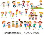 children playing different... | Shutterstock .eps vector #429727921