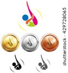 sport icon design for diving on ... | Shutterstock .eps vector #429728065