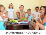 big happy family with children... | Shutterstock . vector #42973042