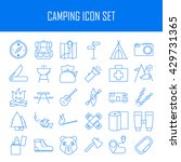 camping icons.  backpack  axe ... | Shutterstock .eps vector #429731365