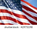 photo of american flag waving... | Shutterstock . vector #42973198