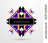 geometric vector background.... | Shutterstock .eps vector #429733969