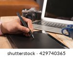 photographer drawing and... | Shutterstock . vector #429740365
