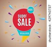 sale banner. | Shutterstock .eps vector #429743737