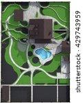 landscaping master plan  3d... | Shutterstock . vector #429743959