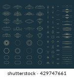 wicker lines and old decor... | Shutterstock .eps vector #429747661