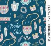 boho chic seamless vector...   Shutterstock .eps vector #429747967