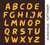 alphabet set painted with a... | Shutterstock .eps vector #429754009