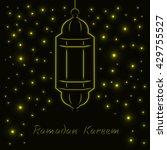 ramadan kareem celebration... | Shutterstock . vector #429755527